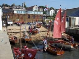Tideways on the beach in front of the Leigh-on-Sea Sailing Club